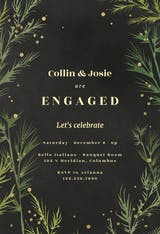 Winter greenery - Engagement Party Invitation