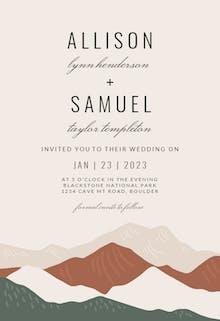Abstract Mountains - Wedding Invitation