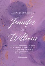 Abstract purple watercolor - Wedding Invitation