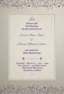 Accented Gradient Frame - Wedding Invitation