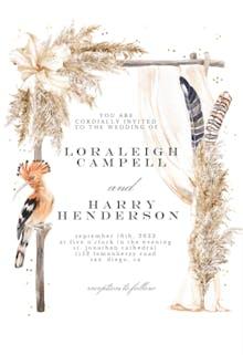 African Canopy - Wedding Invitation