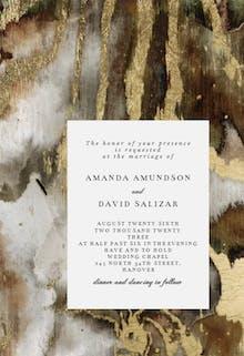 Agate rock background - Wedding Invitation