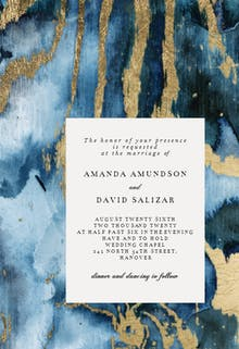 Agate rock background - Wedding Invitation