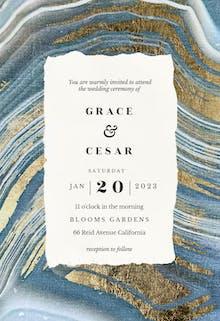 Agate rock - Wedding Invitation