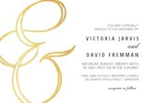 Ampersand Gold - Wedding Invitation