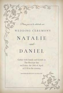 Ancient Decorations - Wedding Invitation