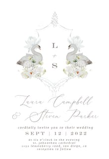 Aqua Lily - Wedding Invitation