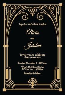 Art deco gate - Wedding Invitation