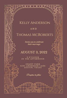 Art Deco - Wedding Invitation