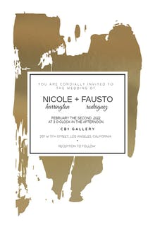 Artsy Brush - Wedding Invitation