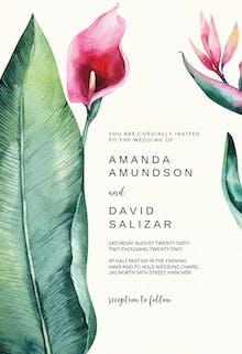 Arum lily - Wedding Invitation