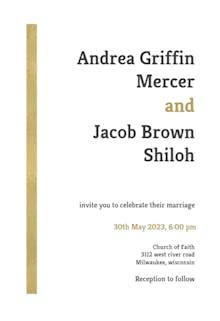 Asimetric stripe - Wedding Invitation