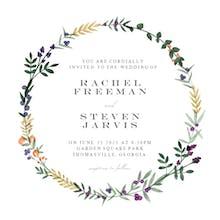 Autumn frame - Wedding Invitation
