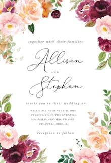 Autumnal Maple - Wedding Invitation