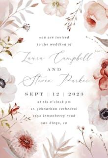 Autumnal Watercolor - Wedding Invitation