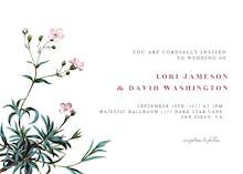 Babys Breath - Wedding Invitation