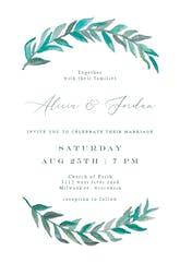 Bay Laurel - Wedding Invitation Template