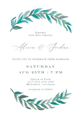 Bay Laurel - Wedding Invitation