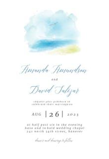 Beach Wedding - Wedding Invitation