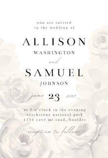 Big Flower - Wedding Invitation