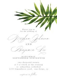 Big Palm Script - Wedding Invitation