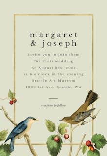 Birds - Wedding Invitation