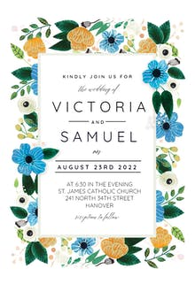 Blue & Orange - Wedding Invitation
