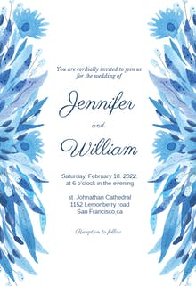 Blue beauty - Wedding Invitation