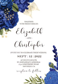 Blue Bouquets - Wedding Invitation