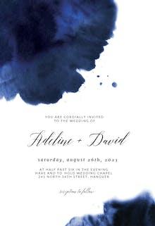 Blue Ink - Wedding Invitation