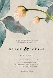 Blush blossom - Wedding Invitation