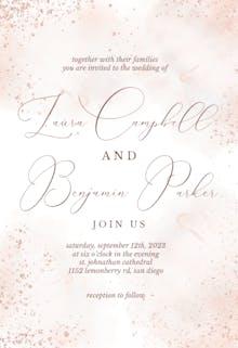 Blush Gold Spots - Wedding Invitation