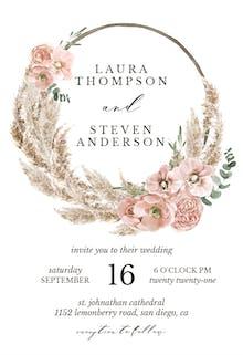 Bohemian Wreath - Wedding Invitation