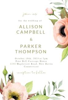 Boho Leaves - Wedding Invitation