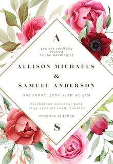 Boho Romance - Wedding Invitation