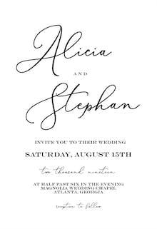 Bold Bellisia - Wedding Invitation