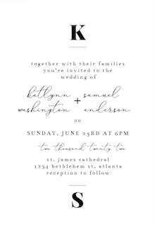 Bold Playfair - Wedding Invitation