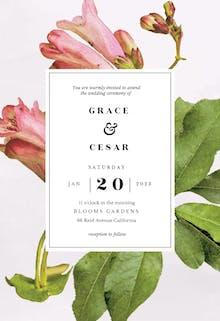 Botanic poetry - Wedding Invitation