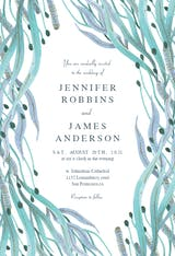 Botanical ocean - Wedding Invitation