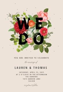 Bouquet of flowers - Wedding Invitation