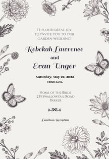 Butterfly Garden - Wedding Invitation