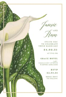 Calla Lilly - Wedding Invitation