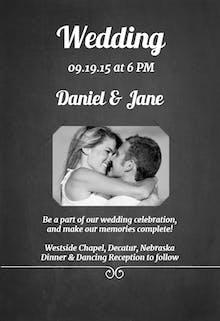Chalkboard Simplicity - Wedding Invitation