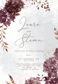 Chocolate Flowers - Wedding Invitation