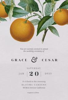 Citrus tree - Wedding Invitation