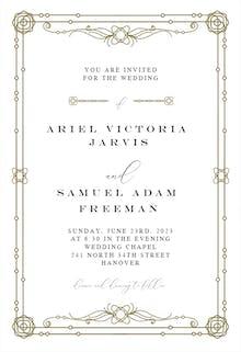 Classic Border - Wedding Invitation