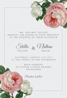 Classic Roses - invitation