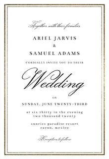 Classy Wedding - Wedding Invitation
