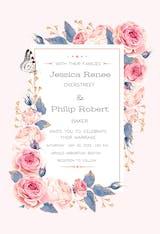Climbing roses - Wedding Invitation