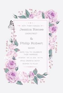 Climbing roses - Invitación De Boda
